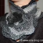 photo tricot modèle tricoté tour de cou main 11