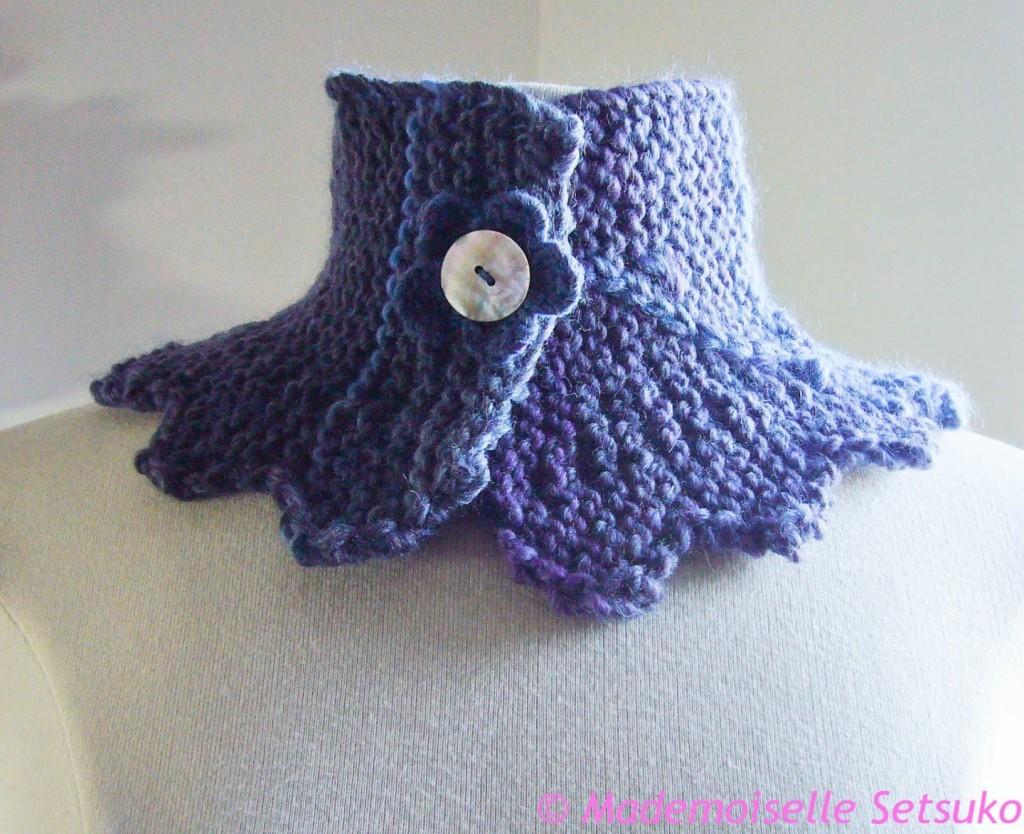 photo tricot modèle tricoté tour de cou main 15
