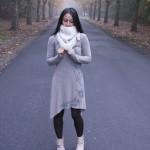 photo tricot modèle tricoté tour de cou main