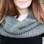 photo tricot modèle tricoté tour de cou main 17