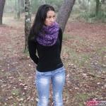 photo tricot modèle tricoté tour de cou main 4