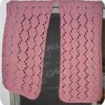 photo tricot modèle tricot écharpe ajourée 10