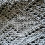 photo tricot modèle tricot écharpe ajourée 11