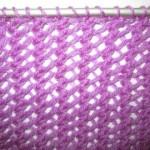 photo tricot modèle tricot écharpe ajourée 18