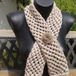 photo tricot modèle tricot écharpe ajourée 2