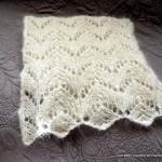 photo tricot modèle tricot écharpe ajourée 3