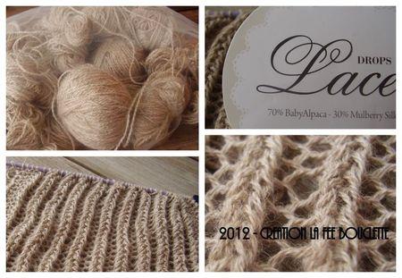 photo tricot modèle tricot écharpe ajourée 7
