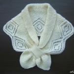 photo tricot modèle tricot écharpe ajourée 8