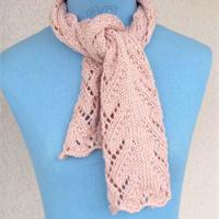photo tricot modèle tricot écharpe ajourée 9