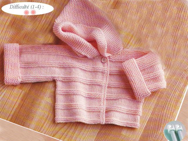 photo tricot modèle tricot bébé facile gratuit 17
