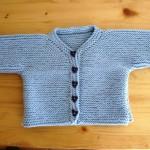 photo tricot modèle tricot bébé top down 12