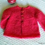 photo tricot modèle tricot bébé top down