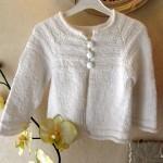 photo tricot modèle tricot bébé top down 18