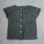 photo tricot modèle tricot bébé top down 4