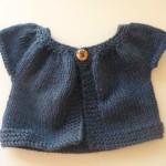 photo tricot modèle tricot bébé top down 6