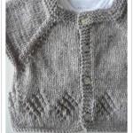 photo tricot modèle tricot bébé top down 7