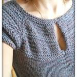 photo tricot modèle tricot bébé top down 9