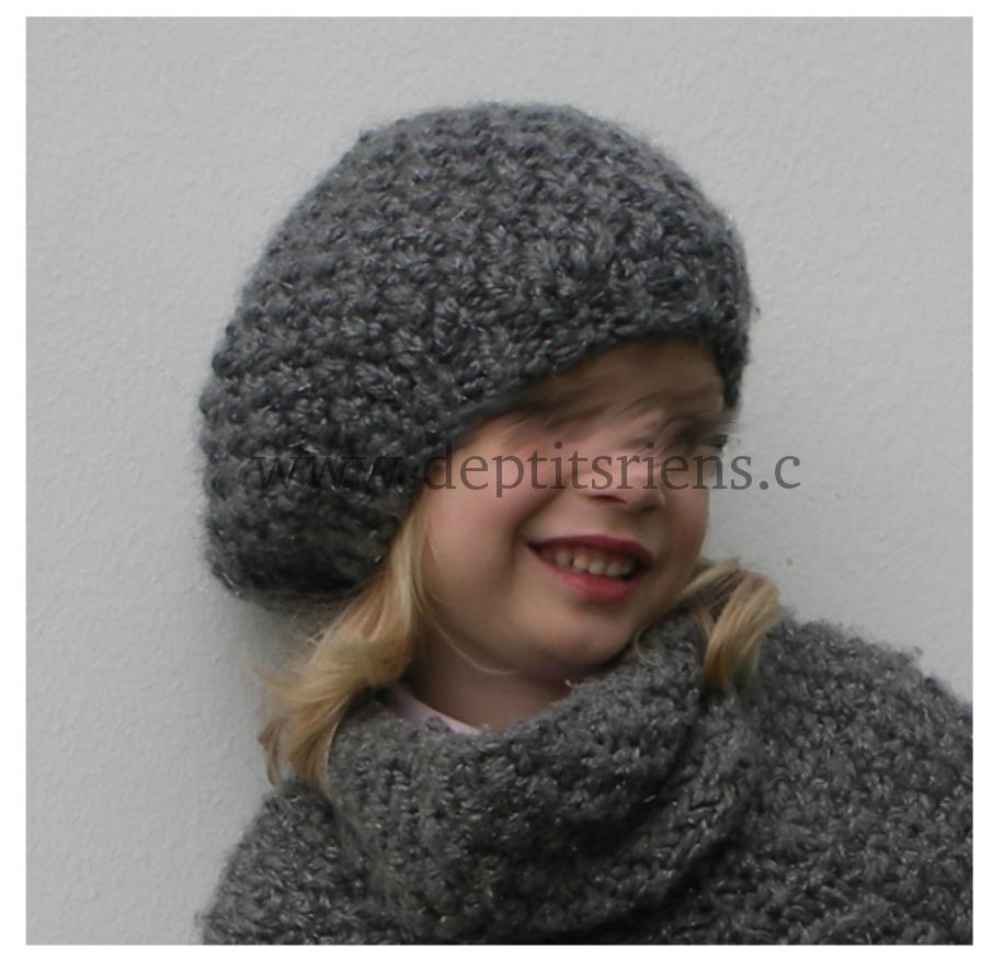 photo tricot modèle tricot béret femme 10