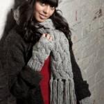 photo tricot modèle tricot bonnet écharpe femme 14