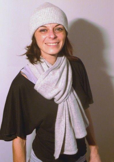 photo tricot modèle tricot bonnet écharpe femme 2