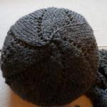 photo tricot modèle tricot bonnet écharpe femme 3