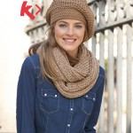 photo tricot modèle tricot bonnet écharpe femme 4