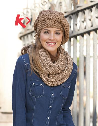 0589f21801a photo tricot modèle tricot bonnet écharpe femme 4