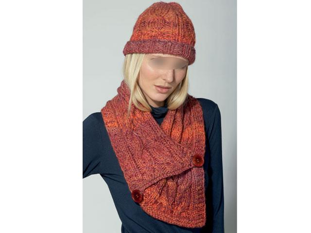 photo tricot modèle tricot bonnet écharpe femme 5