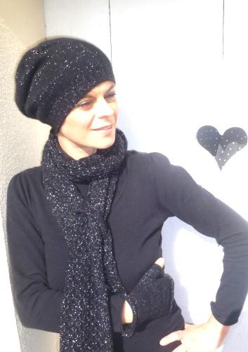 photo tricot modèle tricot bonnet écharpe femme 162c4617abb