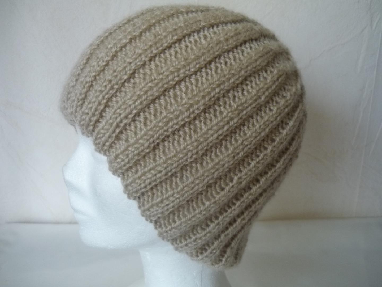 photo tricot modèle tricot bonnet homme 14