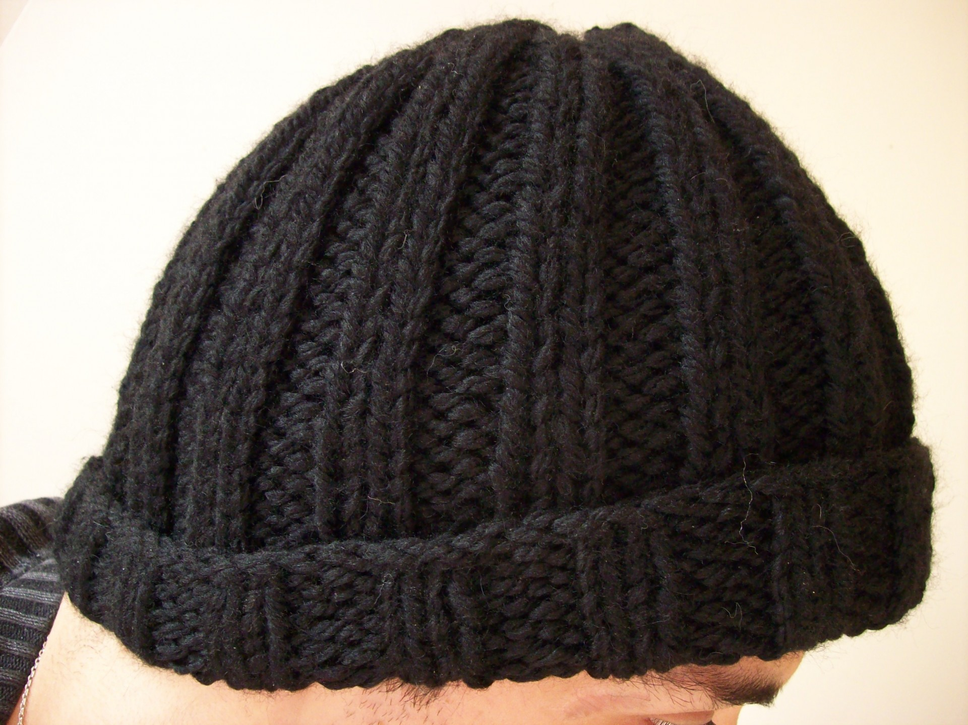 photo tricot modèle tricot bonnet homme 2