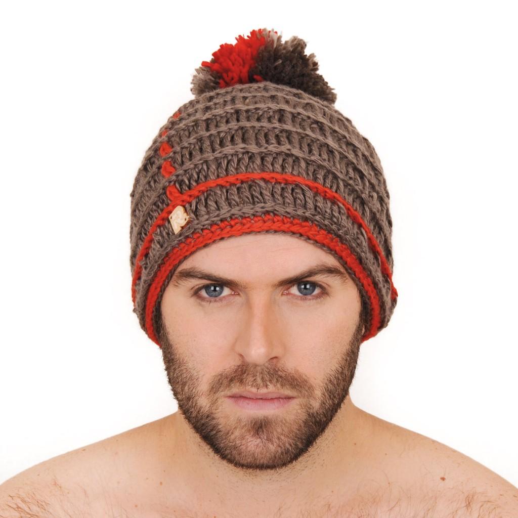 photo tricot modèle tricot bonnet homme avec pompon 10