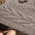 photo tricot modèle tricot bonnet homme avec pompon 13