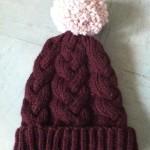 photo tricot modèle tricot bonnet homme avec pompon 16