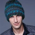 photo tricot modèle tricot bonnet homme avec pompon 17