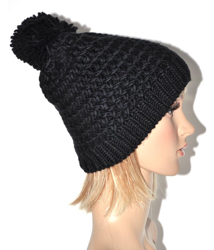 tricoter un bonnet avec pompon