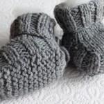 photo tricot modèle tricot chausson bébé gratuit 18