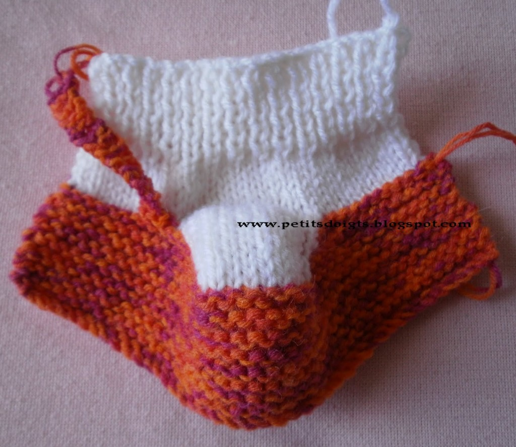 photo tricot modèle tricot chausson bébé gratuit 3