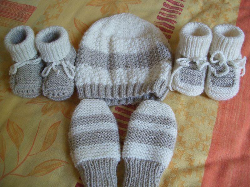 photo tricot modèle tricot chausson bébé gratuit 6