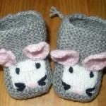 photo tricot modèle tricot chausson bébé gratuit 7
