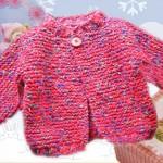photo tricot modèle tricot débutant pour bébé 15