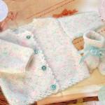 photo tricot modèle tricot débutant pour bébé 17