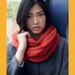 photo tricot modèle tricot facile snood gratuit 11