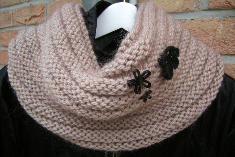photo tricot modèle tricot facile snood gratuit 12