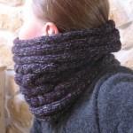 photo tricot modèle tricot facile snood gratuit 14