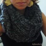 photo tricot modèle tricot facile snood gratuit