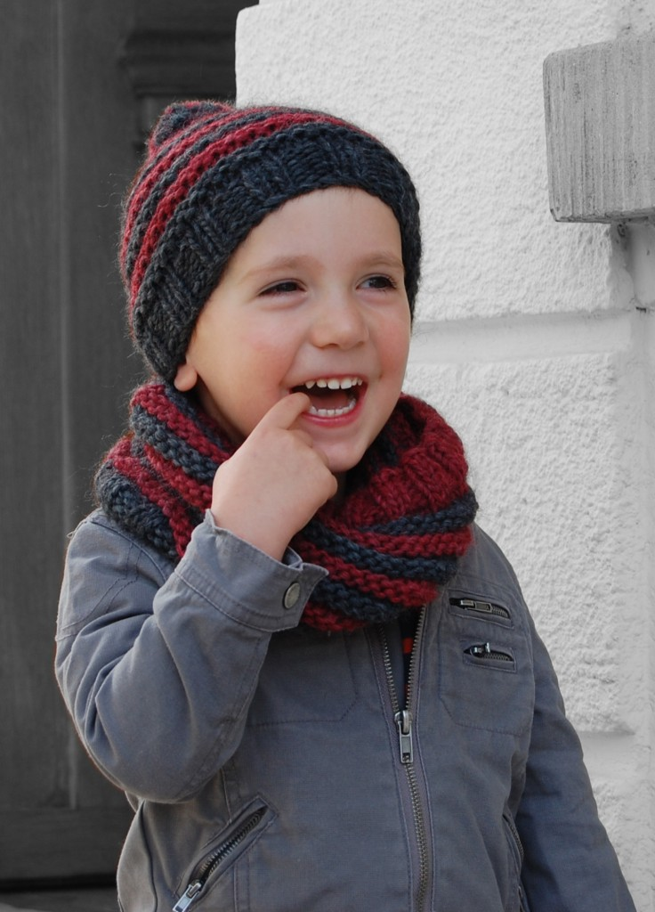 photo tricot modèle tricot facile snood gratuit 16