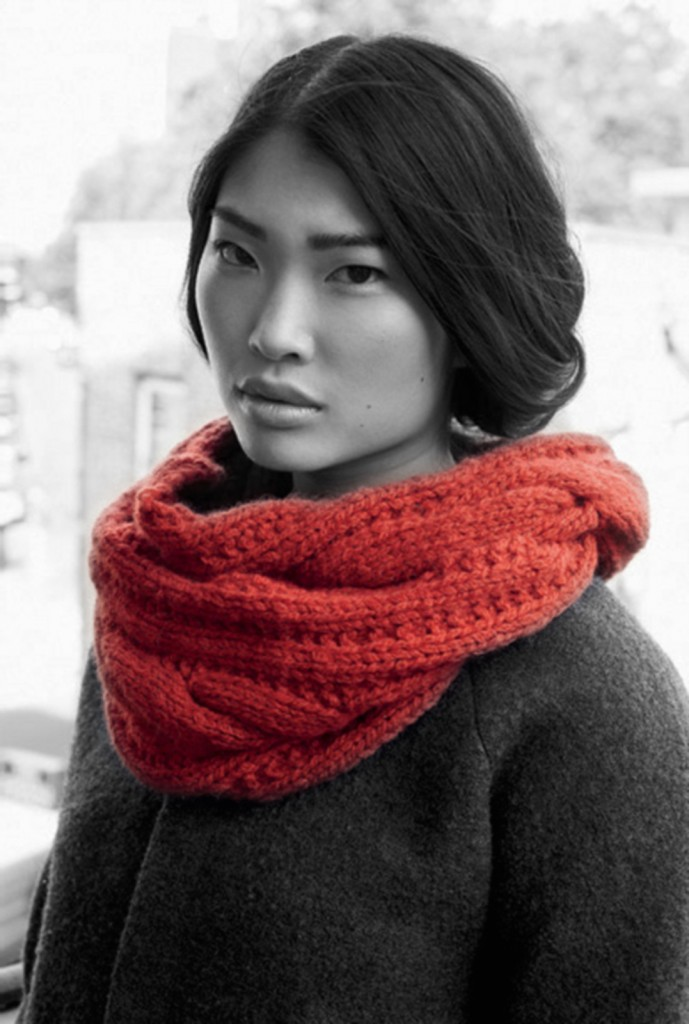 photo tricot modèle tricot facile snood gratuit 7