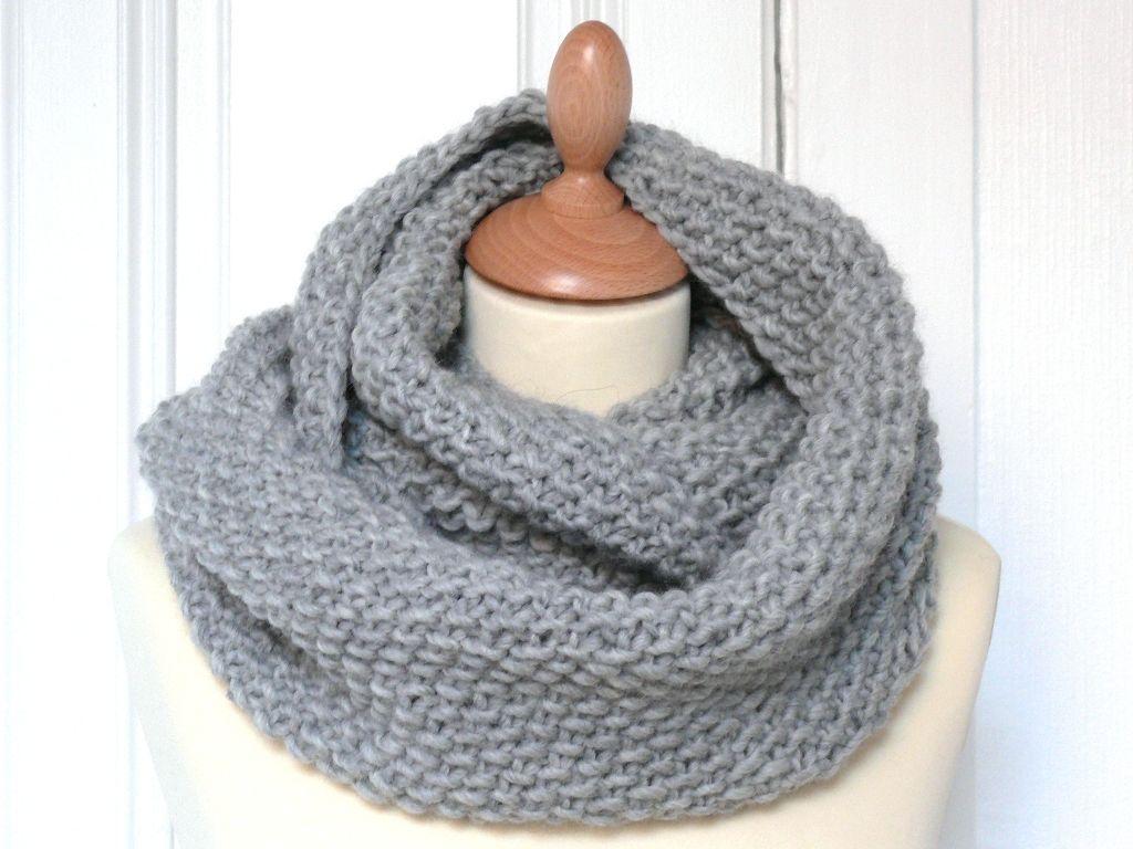 photo tricot modèle tricot facile snood gratuit 8