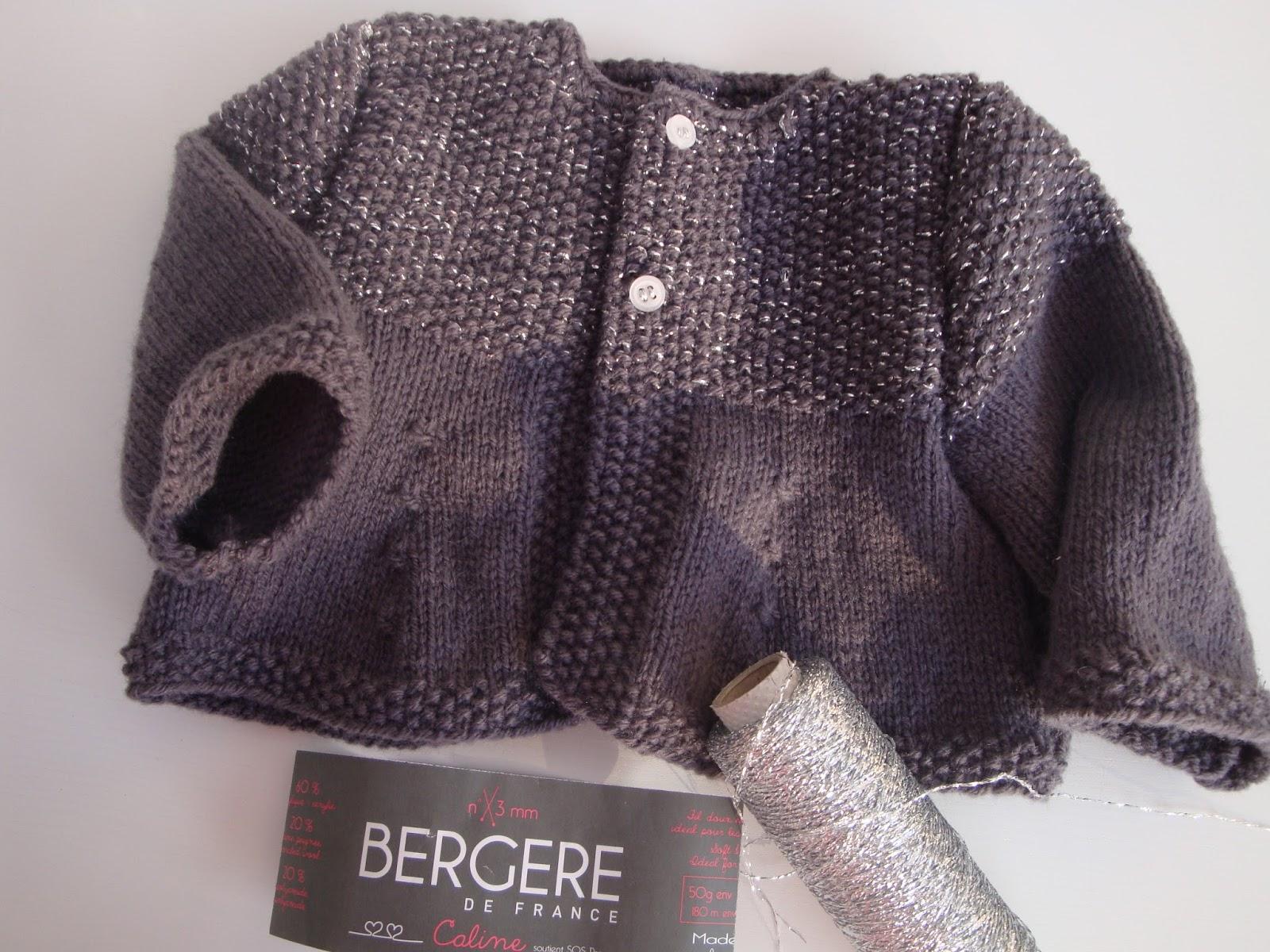 modèle tricoter gilet bébé